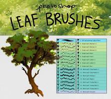 Photoshop Leaf Detail Brushes
