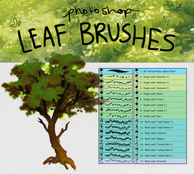 Photoshop Leaf Detail Brushes