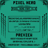 Pixel Hero Font [With Lower Case Letters]