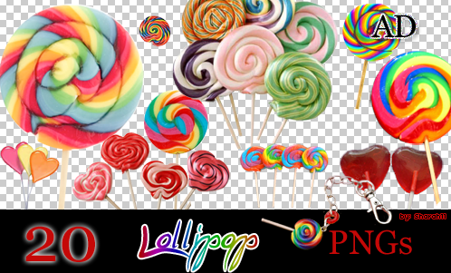 Lollipop PNGs by Sharah11