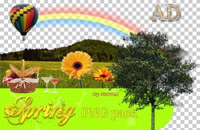 Spring PNG pack by Sharah11