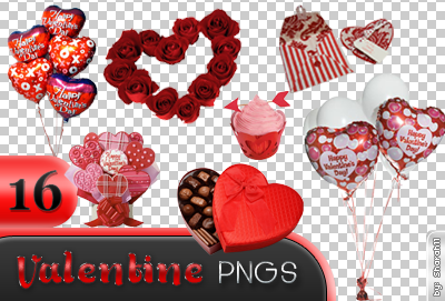 Valentine's day png pack - 16 pictures by Sharah11