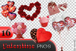 Valentine's day png pack - 16 pictures