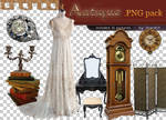 Antique png pack - 12 pictures