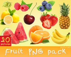 Fruits png pack - 20 ping pictures by Sharah11