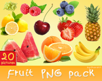 Fruits png pack - 20 ping pictures