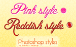 Pink and reddish photoshop styles (02.)