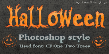 Halloween photoshop style by Sharah11
