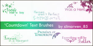 'Countdown' Text Brushes