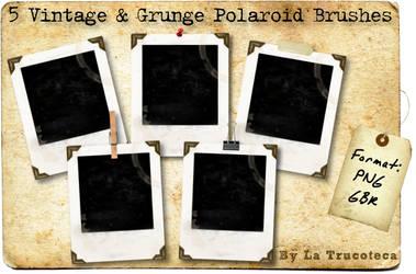 5 Grunge Polaroid Brushes by Latrucoteca