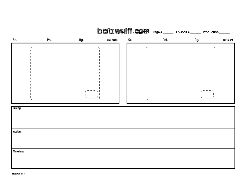 Storyboard Template By Bobwulff On Deviantart