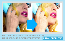 PSD lady gaga telephone by OumBoJae