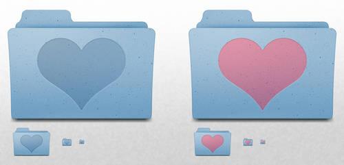Mac OS X Folder - Heart