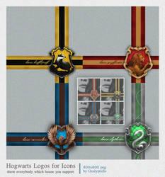 Hogwarts House Logos for Icons
