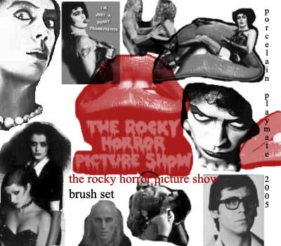 RockyHorrorPictureShow brushes by porcelainplaymate