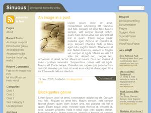 Sinuous Wordpress Theme screenshot