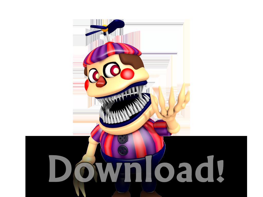 Nightmare BB Download (HeroGollum) (FNaF4) by HeroGollum