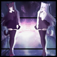-MMD-TOON Tyan (Nanami Akazava) -Suspended DL- by KiraKoToVa