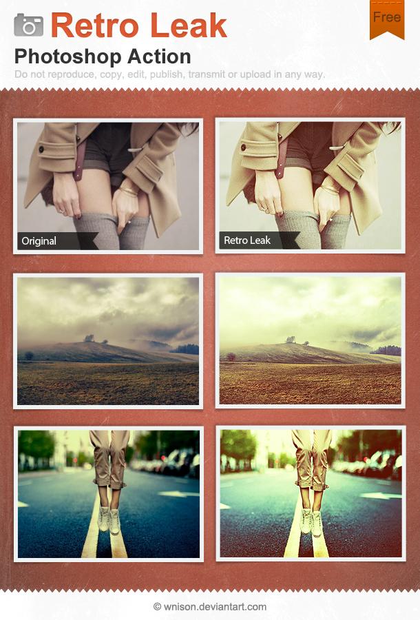 Retro Leak Photoshop Action by Wnison