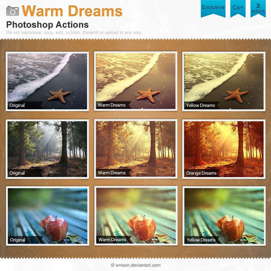Warm Dreams Photoshop Actions