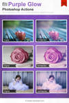 Purple Glow Photoshop Actions