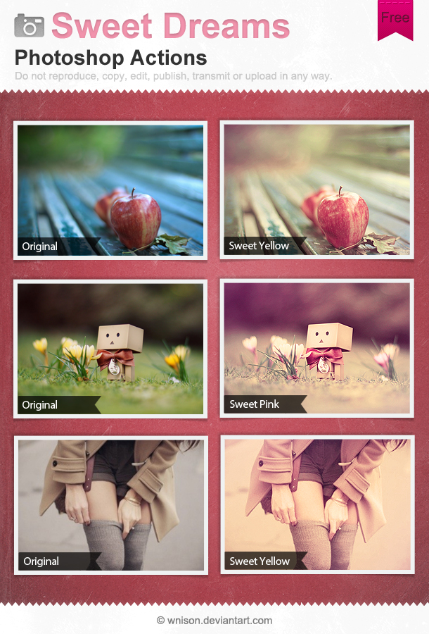 Sweet Dreams Photoshop Actions by Wnison