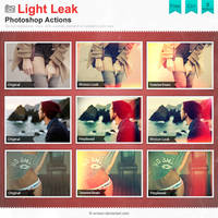 Light Leak Photoshop Actions by Wnison