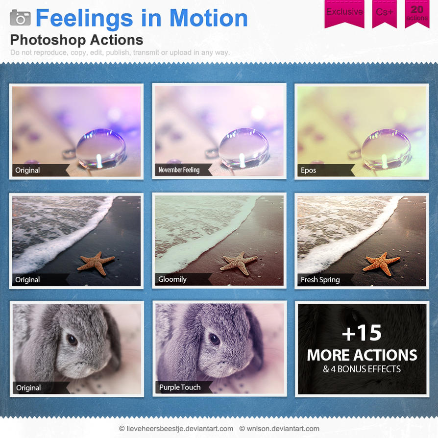 Feelings in Motion Photoshop Actions by Wnison