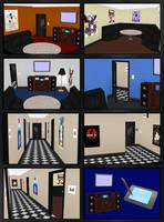 Karaoke Room + Hallway Models - for ComiPo! by Metalraptor