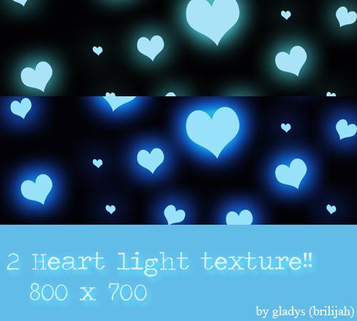 Heart light textures by Brilijah