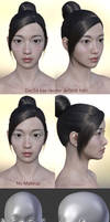 Freebie : Daz3d East Asian female face 1
