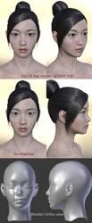 Freebie : Daz3d East Asian female face 1 by HerYun