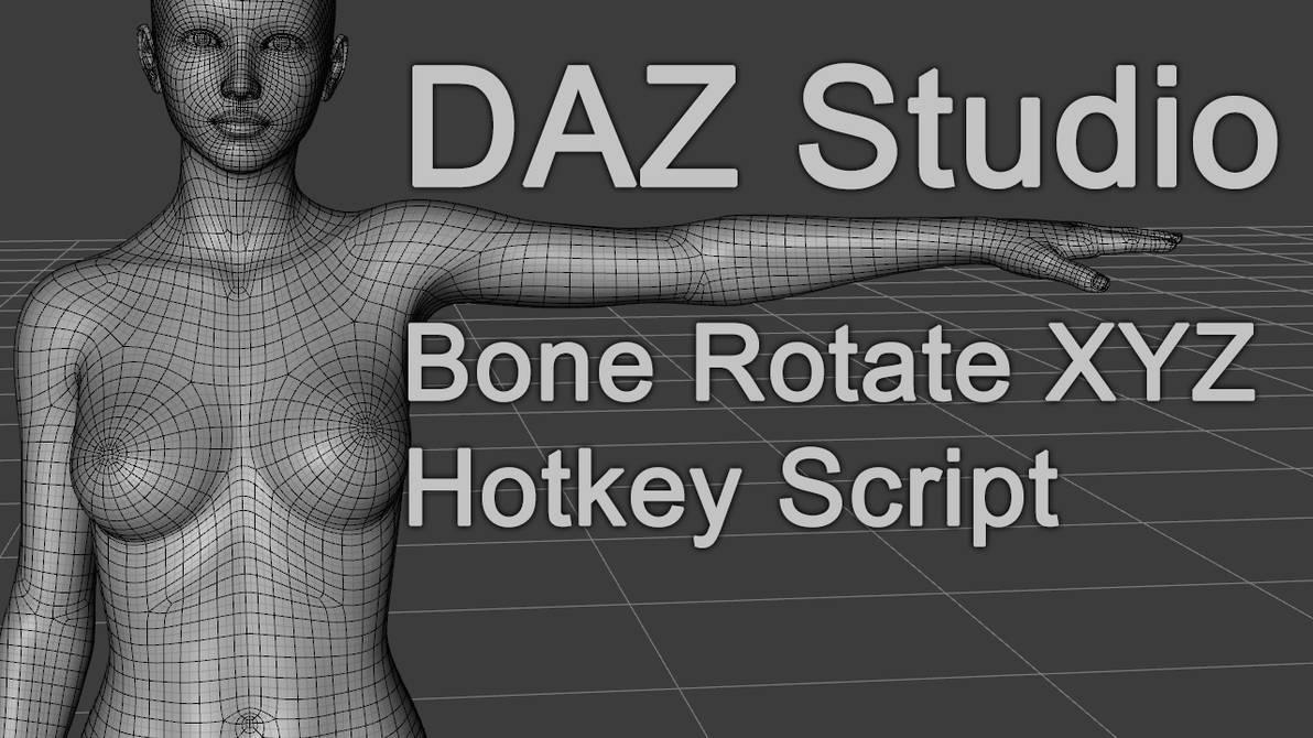 Freebie : Daz3D Genesis8 RotateXYZ Hotkey by HerYun on
