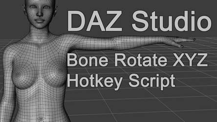 Freebie : Daz3D Genesis8 RotateXYZ Hotkey