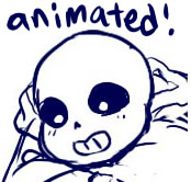 Sans is happy by MisaKarin