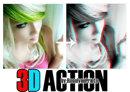3D Grey Effect Actions