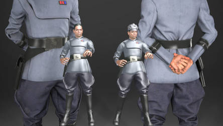 Clone Officer with facial morphs (MMD Download) by Cameron-Kiesser
