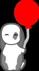Happy Bun-bun with Balloon by circular-illogic