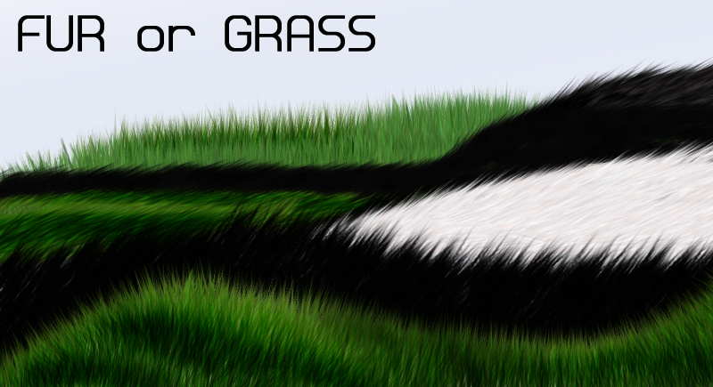 fur or grass