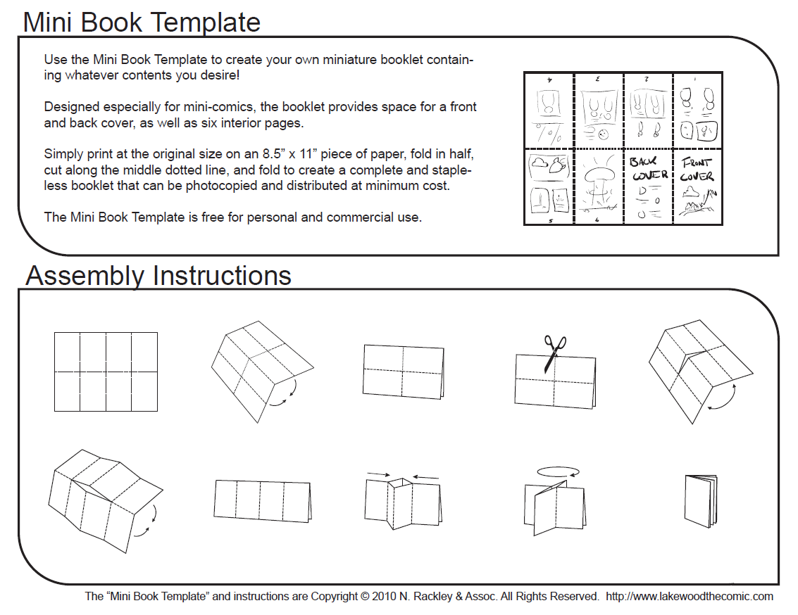 Mini comic book template and tutorial by droakir on deviantart for Small booklet template