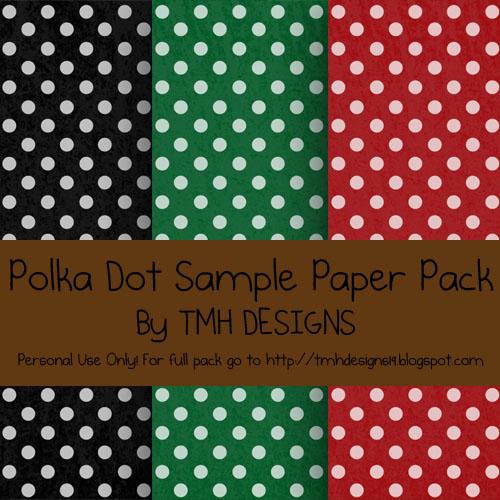 Polka Dot Sample Paper Pack