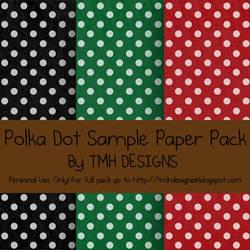 Polka Dot Sample Paper Pack by frenzymcgee