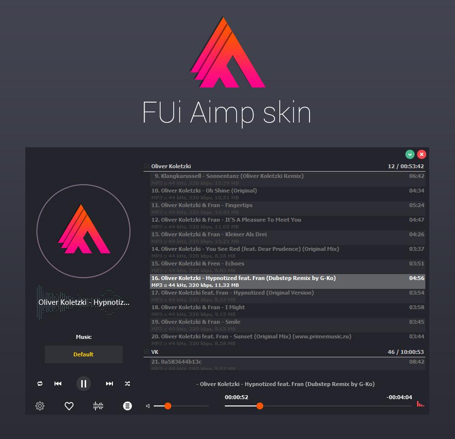 FUI AIMP Skin (Pre-Release) by Vitalik221
