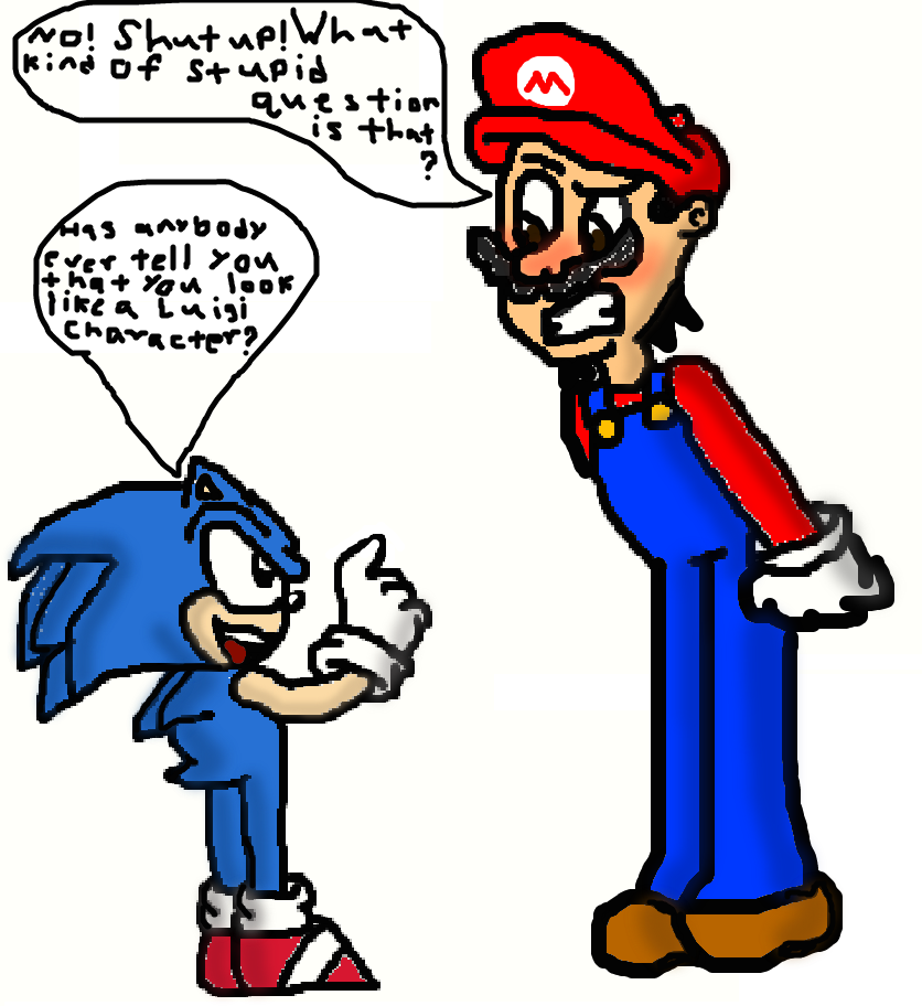 Me As Mario And The Classic Sonic By Tizlam97