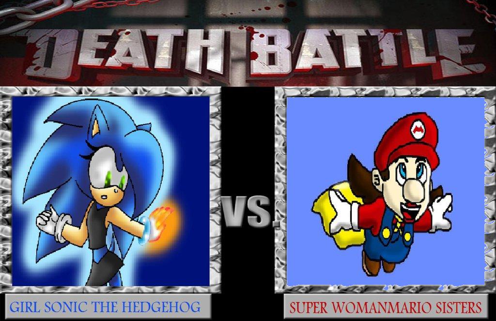 Death Battle Girl Sonic Vs Womanmario By Tizlam97 On Deviantart
