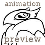 Bird creature flapping animation