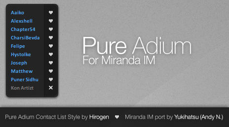 Pure Adium for Miranda IM by yukihatsu