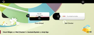 GAIA08 Clock and Mail Widgets by yukihatsu