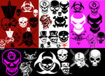 Skull brushes for PSP