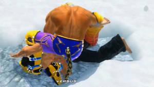 Tekken 6 - King grabs Jin [animated]